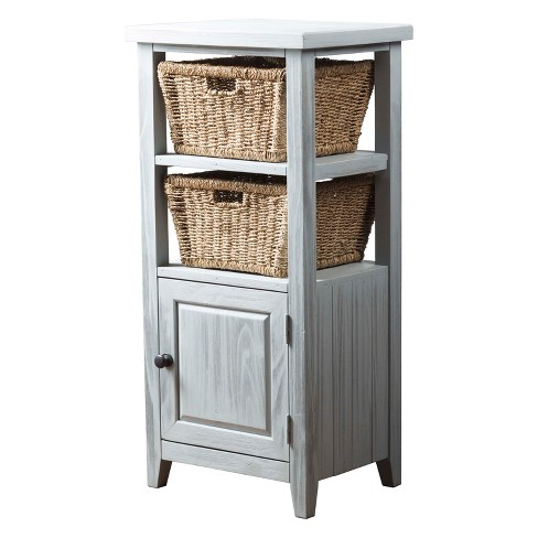 Tuscan Retreat® Basket Stand with Two (2) Baskets Powder Blue (Wirebrush) - Hillsdale Furniture - image 1 of 3