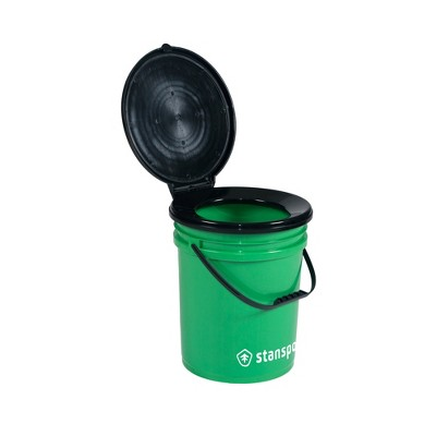 Stansport Bucket Style Portable Toilet With Lid