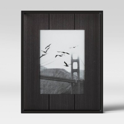 "5"" x 7"" Charred Wood with Metal Frame Black - Project 62™"