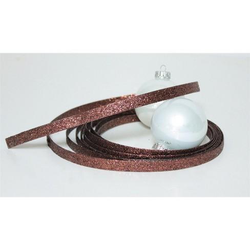 "Melrose Bronze Glittered Christmas Craft Ribbon 1"" x 15 Yards - image 1 of 1"