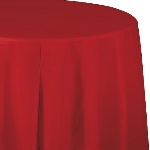 Classic Red Disposable Tablecloth - image 1 of 3