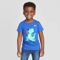 Toddler Boys' Short Sleeve T-Rex Baseball Graphic T-Shirt - Cat & Jack™ Blue