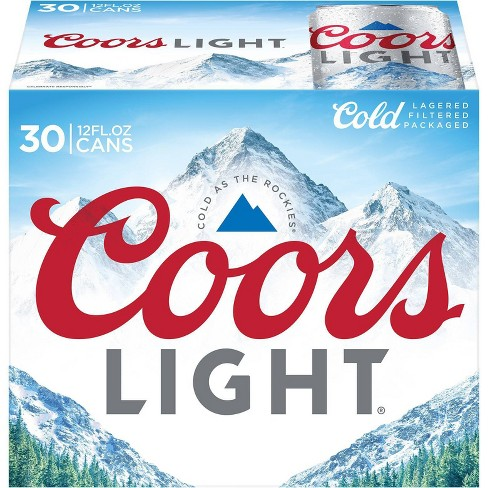 Coors Light Beer - 30pk/12 fl oz Cans - image 1 of 4