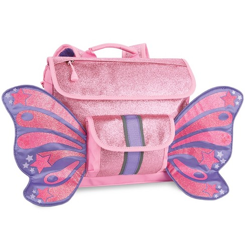 "Bixbee 10"" Kids' Sparkalicious Butterflyer Backpack - Pink - image 1 of 3"