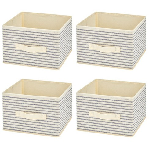 mDesign Soft Fabric Closet Storage Organizer Cube Bin, 4 Pack - image 1 of 4
