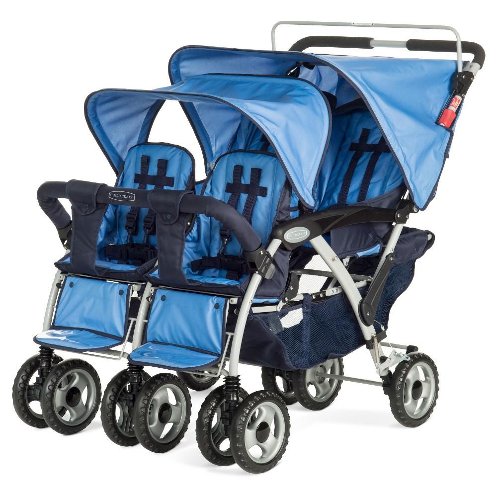 Image of Child Craft 4 Passenger Stroller - Blue