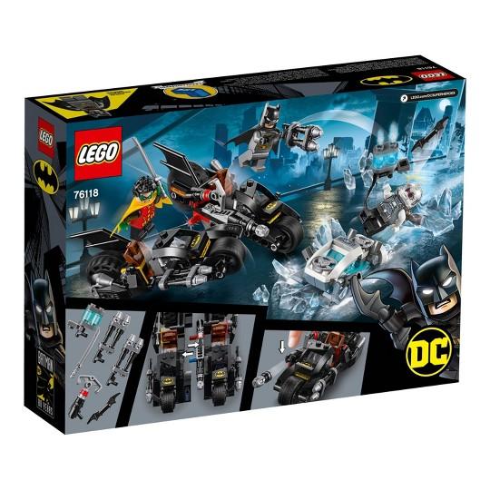 LEGO DC Comics Super Heroes Batman Mr. Freeze Batcycle Battle 76118 Toy Motorcycle Building Set 200pc image number null