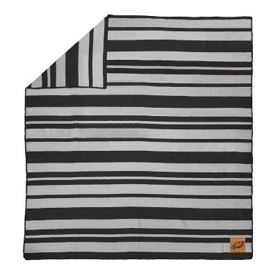 NFL Philadelphia Eagles Acrylic Stripe Blanket with Faux Leather Logo Patch