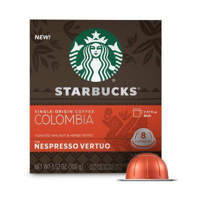 Starbucks for Nespresso Vertuo Single Origin Colombia Medium Roast Coffee - 3.52oz/8ct