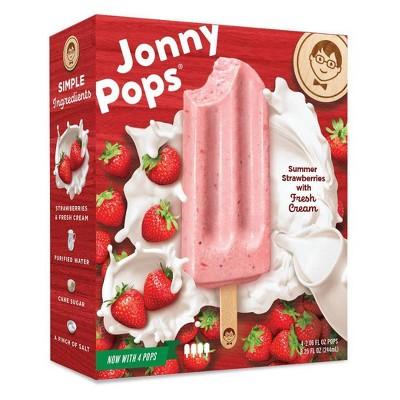 JonnyPops Strawberries & Cream Frozen Fruit Bars - 4pk/8.25oz
