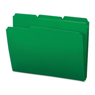 Smead Waterproof Poly File Folders 1/3 Cut Top Tab Letter Green 24/Box 10502
