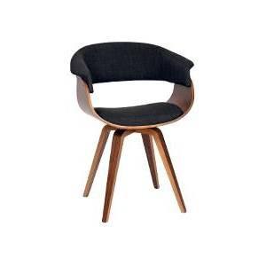 Graz Modern Fabric Chair Charcoal/Walnut Wood - Armen Living