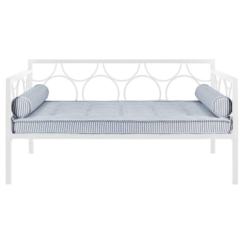 Twin Rowan Metal Daybed White - Room & Joy