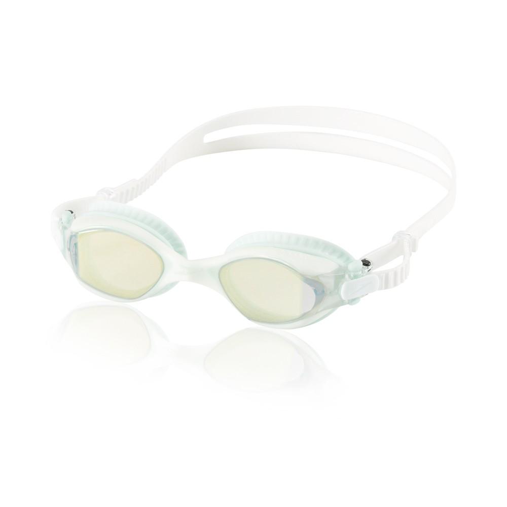 Speedo Adult Comfort Fitness Goggle Mirrored - White