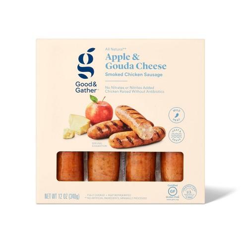 Apple & Gouda Chicken Sausage - 12oz - Good & Gather™ - image 1 of 2
