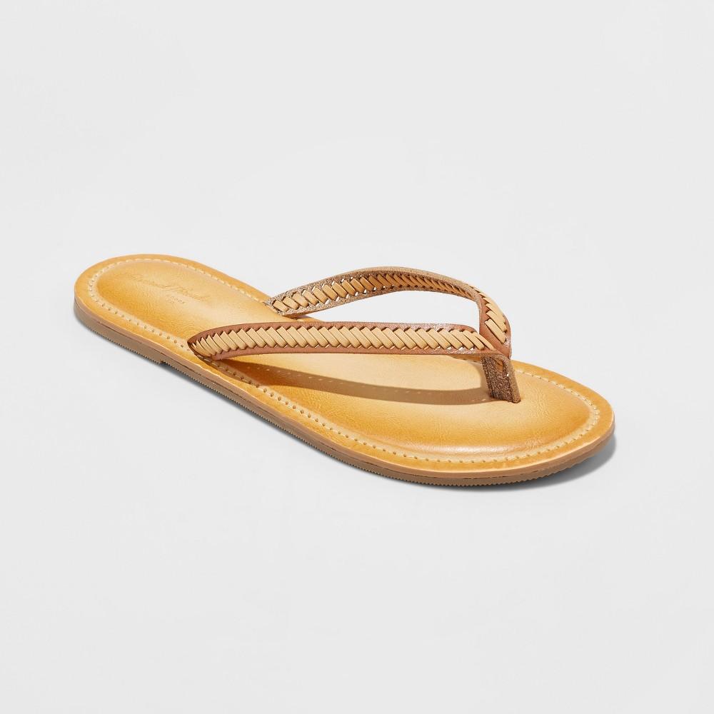 Women's Valeryn Flip Flop Sandal - Universal Thread Tan 7, Beige
