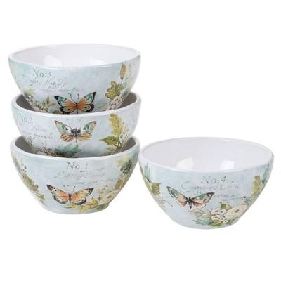 28oz 4pk Earthenware Natural Garden Ice Cream Bowls - Certified International