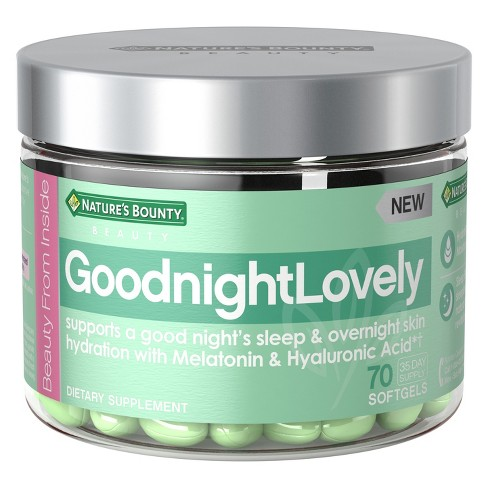 Natures Bounty Goodnight Lovely Dietary Supplement Softgels 70ct