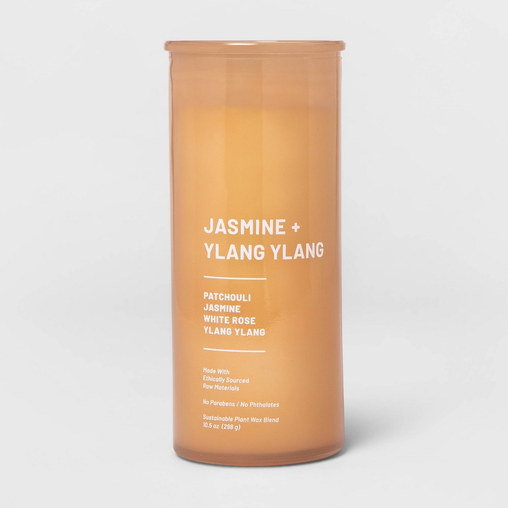 Image of 10.5oz Glass Jar Wellness Candle Jasmine & Ylang Ylang - Project 62 , Orange