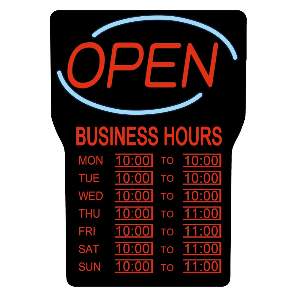Image of Royal Sovereign LED Open Sign with Hours RSB-1342E