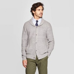 Men's Standard Fit Button-Up Mock Neck Sweater - Goodfellow & Co™