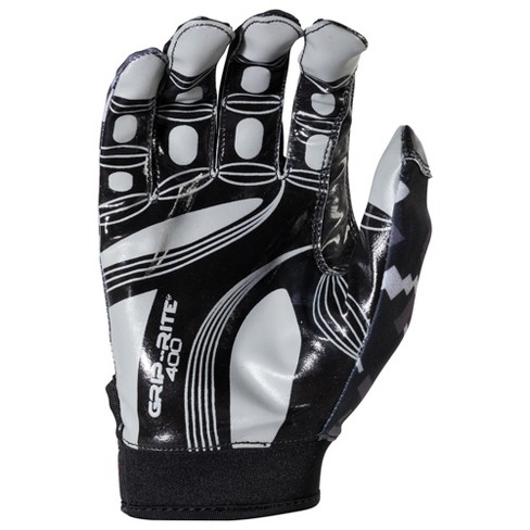 9d9bc77944b Franklin Sports Youth Grip-Rite® 400 Football Receiver Gloves Medium    Large - Black Gray