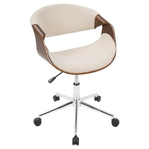 Curvo Mid-Century Modern Office Chair - LumiSource - image 1 of 4
