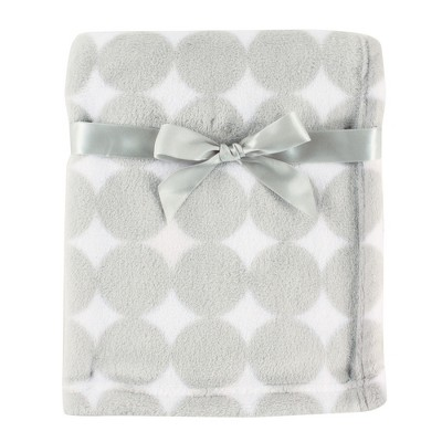 Luvable Friends Baby Coral Fleece Blanket, Gray Dot, One Size