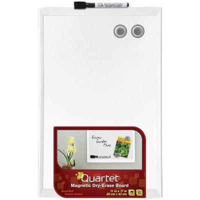 "Quartet 11"" x 17"" Magnetic Dry Erase Board - White Frame"