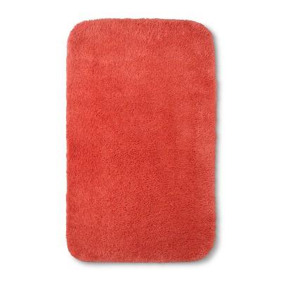 32 x20  Solid Bath Rug Bright Coral - Room Essentials™