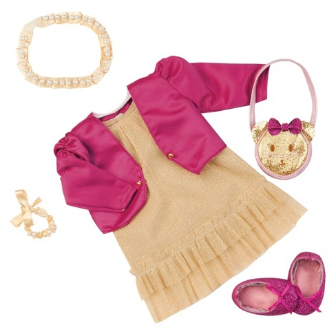 """Our Generation Deluxe Dress Outfit for 18"""" Dolls - Goldie Luxe - image 1 of 2"""