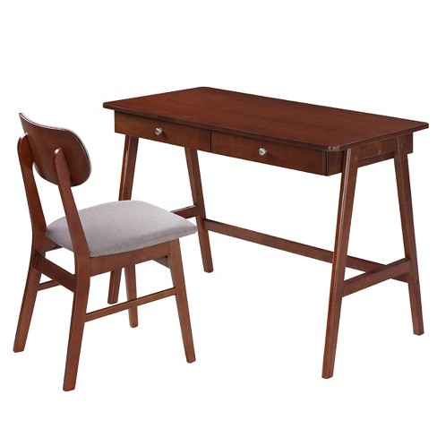 Modern Desk With Storage And Chair Set Gany Gray Techni Mobili Target