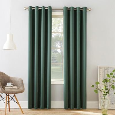 "84""x54"" Seymour Grommet Top Room Darkening Window Curtain Panels Green - Sun Zero"