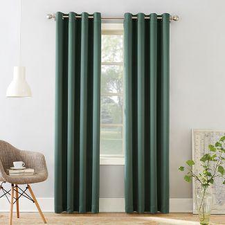 "54""x84"" Seymour Grommet Top Room Darkening Window Curtain Panels Pine Green - Sun Zero"