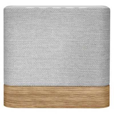 Knit Cube Portable Bluetooth Wireless Speaker - Light Gray/Wood
