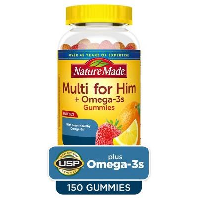 Nature Made Multi for Him Plus Omega-3 Gummies