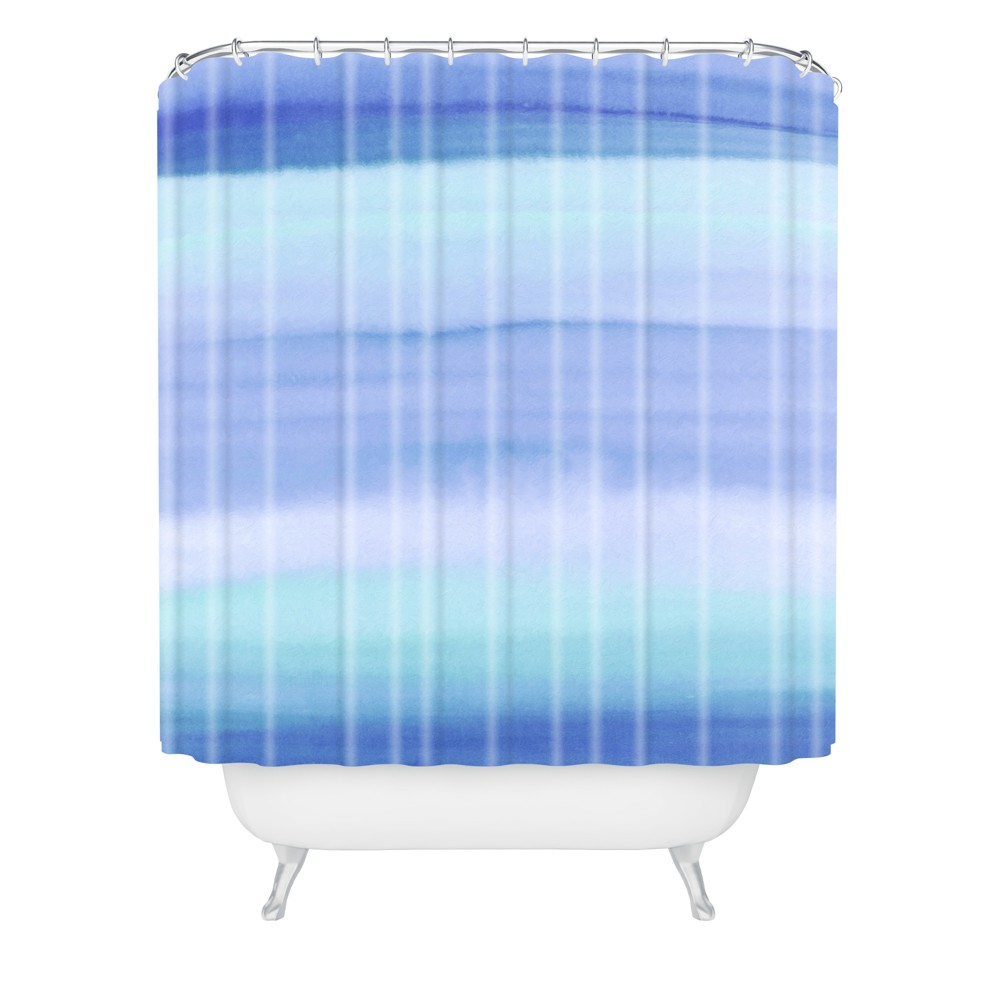 Image of Amy Sia Ombre Blue Shower Curtain Blue - Deny Designs
