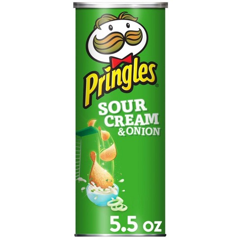 Pringles Sour Cream & Onion Potato Crisps Chips - 5.5oz - image 1 of 4