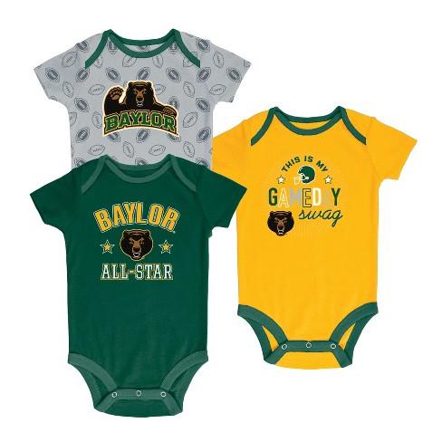 Baylor Bears Baby Boy Short Sleeve 3pk Bodysuit - image 1 of 1