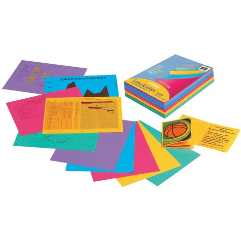 Array Multi-Purpose Paper, 8-1/2 x 11 Inch, 24 lb, Assorted Designer Colors, pk of 500 - image 1 of 1