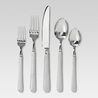 Sydney Sand Silverware Set 45-pc. With Caddy Stainless Steel - Threshold™