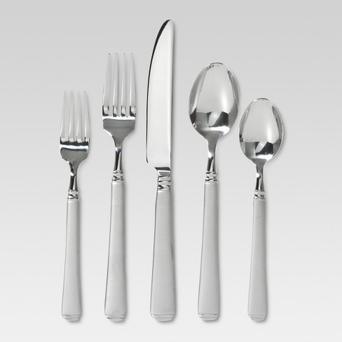 Sydney Sand Silverware Set 45-pc. With Caddy Stainless Steel - Threshold™ - image 1 of 3