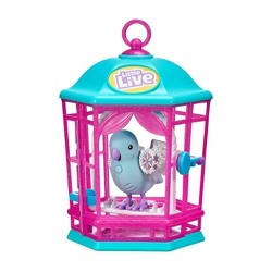 Little Live Light Up Song Bird in Cage – Snow Gleam
