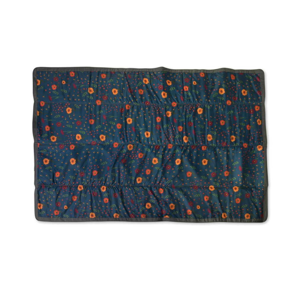 Image of Travel Baby Blanket Little Unicorn Blue/Orange
