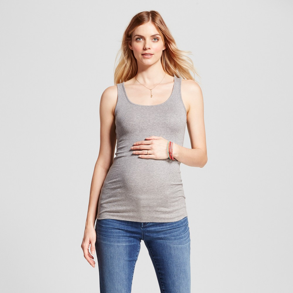 Maternity Scoop Neck Tank - Isabel Maternity by Ingrid & Isabel Gray L, Women's