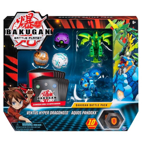 Bakugan Battle Pack 5-Pack Ventus Hyper Dragonoid and Aquos Pandoxx Collectible Cards and Figures - image 1 of 4
