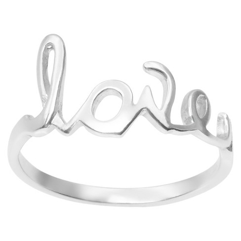 Women's Journee Collection Love Ring in Sterling Silver - image 1 of 2