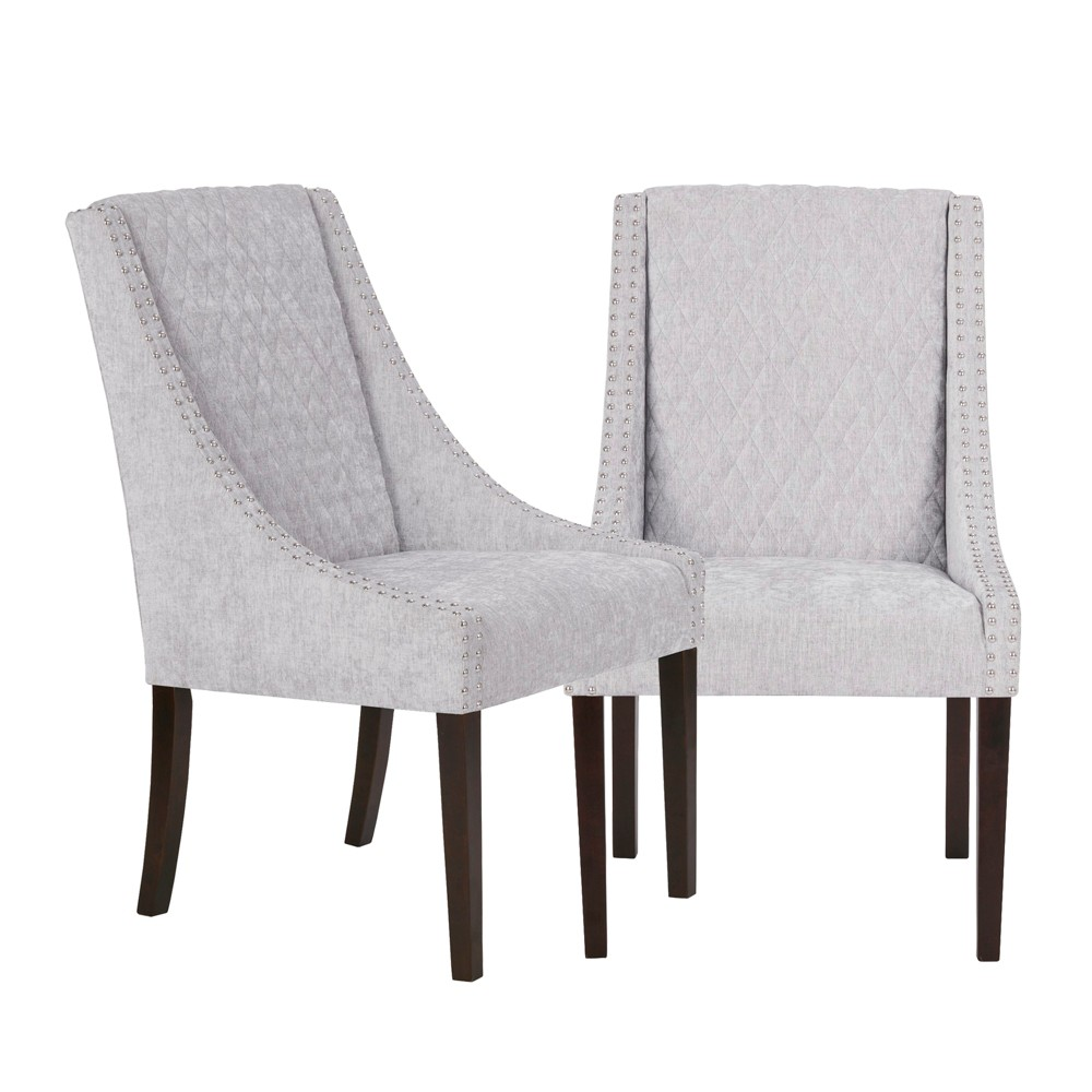 Haven Dining Chair Set of 2 Gray/Silver