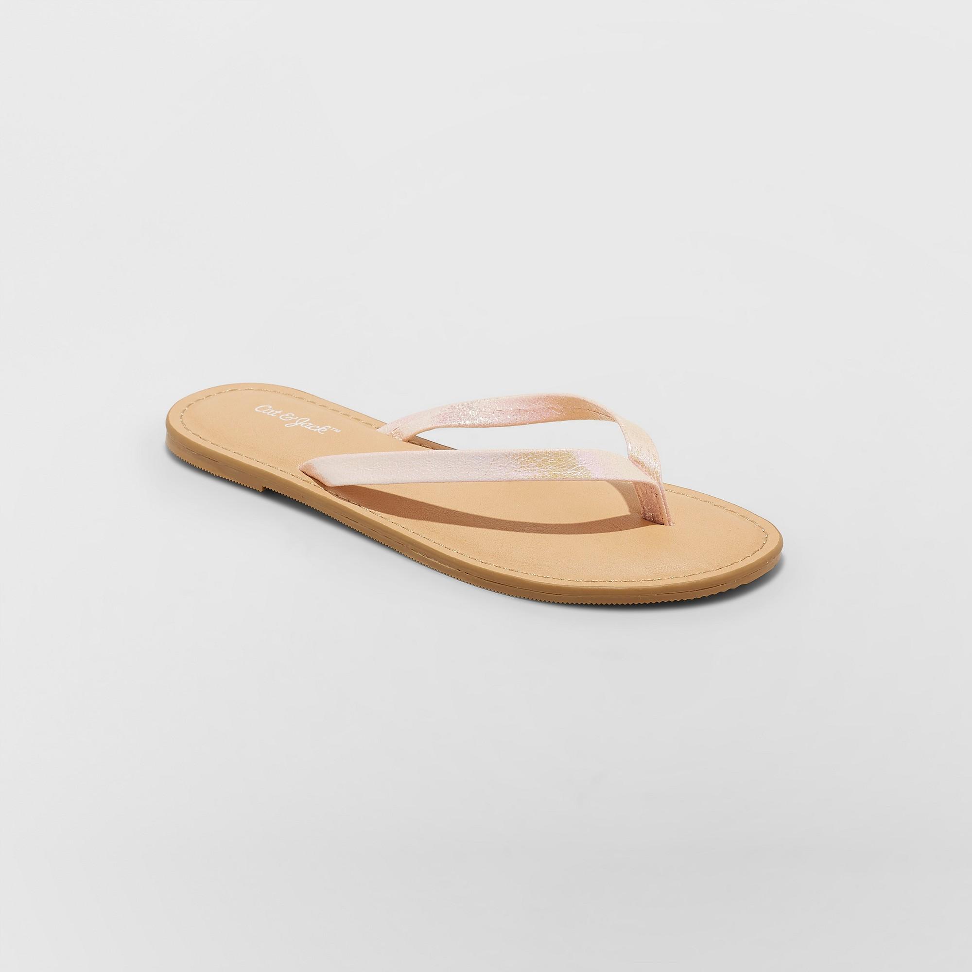 Girls' Serena Flip Flop Sandals - Cat & Jack Pink M
