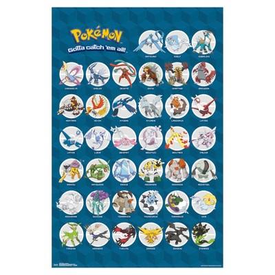 Pokemon Legendary Poster 34x22 - Trends International